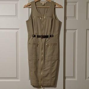 MICHAEL KORS dress khaki sleeveless- SUPER CUTE